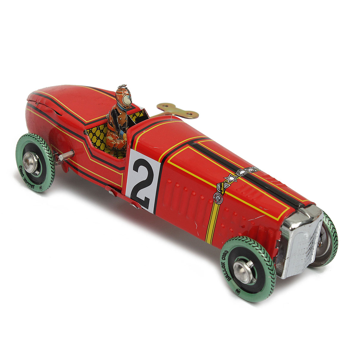 Wholesale Iron metal handicraft Vintage red Wind Up Racing old classic Race Car model Clockwork tin Vehicle toy Collectable Gift(China (Mainland))