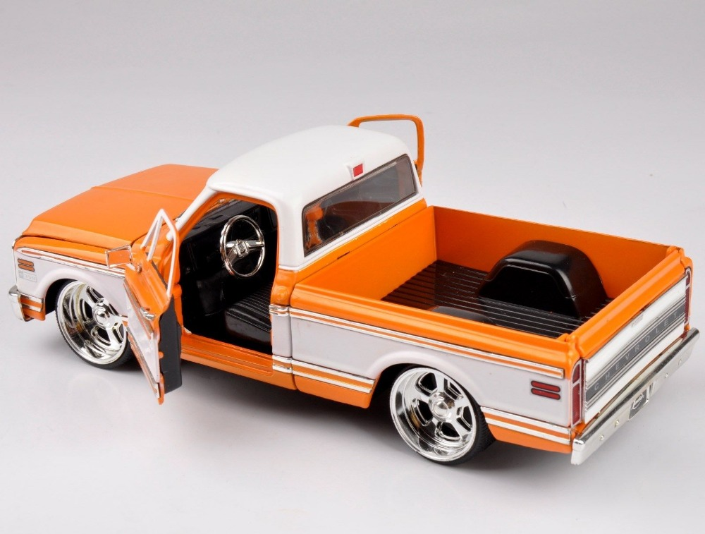 1:24 Scale Aolly Diecast Jada Model Toys 1972 Chevroleto Cheyenne Pickup Truck Car Model Kids Toys brinquedos Collectible Gifts<br><br>Aliexpress