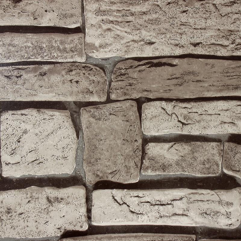 Ziegel Tapete Wohnzimmer : 3D Stone Wall Roll Paper