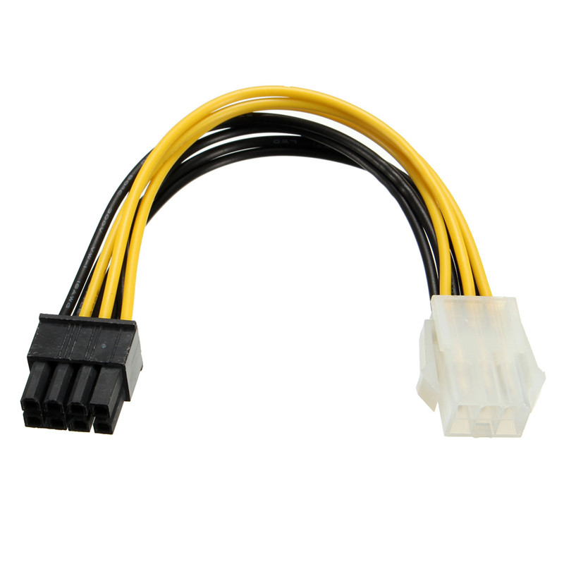 New Arrival PCI Express PCI-E Black Red 6 Pin to 8 Pin Graphic Card Power Adapter Cable 10CM For PC(China (Mainland))