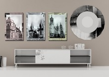3 Panels Art Canvas Print beautiful New York London Pairs Pisa City Home Decor Cityscape wall Decal Ready to Frame(China (Mainland))