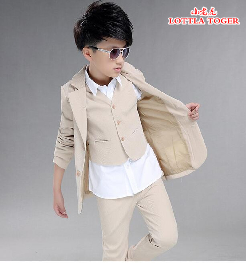 Boys wedding suit Kids Tuxedos Page boy Outfits 3 pieces Autumn Clothing sets Boys blazer suit Corduroy Occasion Suits(China (Mainland))