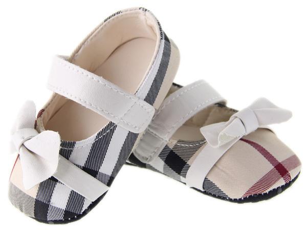 From Factory Direct Brow Plaid Baby Girls First walkers Toddler Shoes #hs129(China (Mainland))