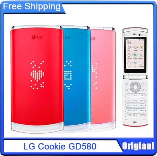 GD580 Lollipop Unlocked Original Cellphone LG Cookie GD580 Mobile Phone 3.0MP External Hidden OLED Display Fast Shipping(China (Mainland))