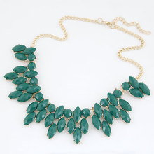 2015 Necklaces Colar Big Necklace Pendants Hot Sell 4 Colors Jewelry Long Jewelry Woman Maxi Necklace