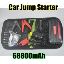 hot sell for Petrol and Diesel 12V portable mini jump starter 68800mAh red car jumper charger mobile phone laptop power bank