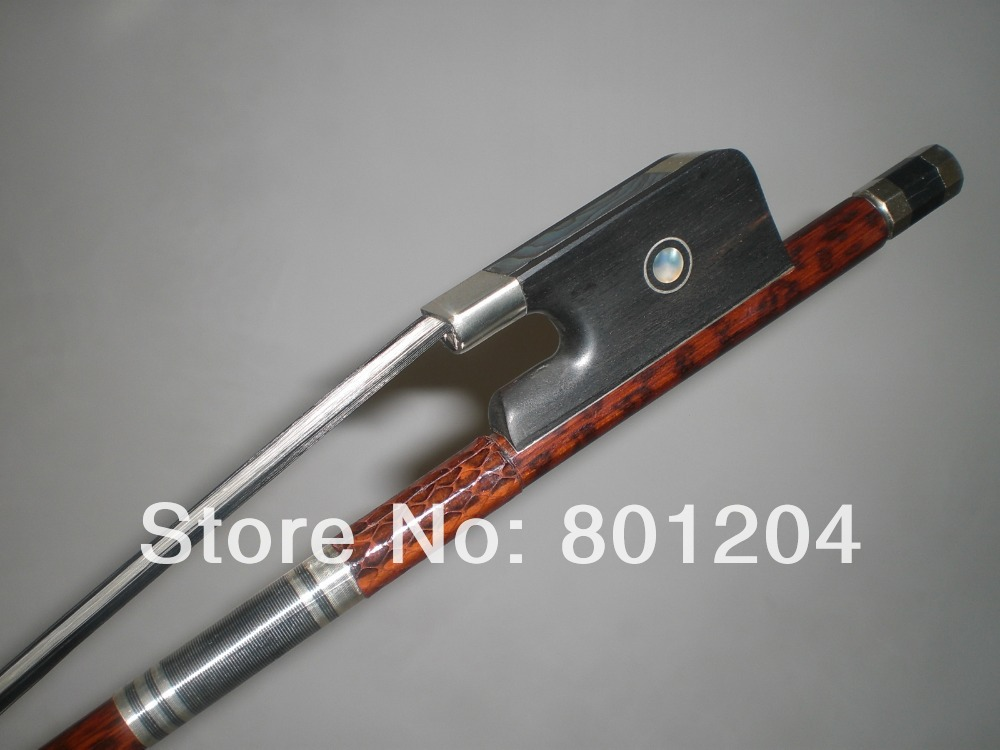 1 PCs High Quality Baroque Double Bass Bow 3/4 Black & White Bow hair 4005#(China (Mainland))