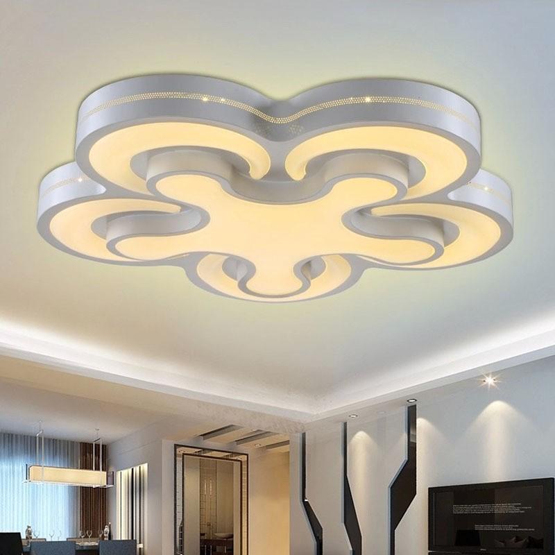 remote control surface mounted modern led ceiling lights for living room bedroom led light. Black Bedroom Furniture Sets. Home Design Ideas