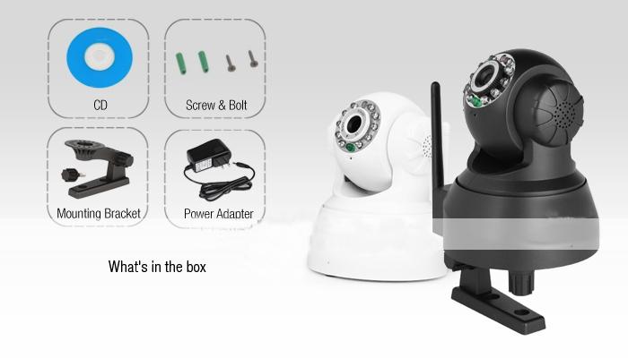 Здесь продается  4 pieces/lot Sricam AP001 Wireless IP Camera Built-in Mic with Phone Remote Monitoring Plug/Play 10m Night Vision  Безопасность и защита