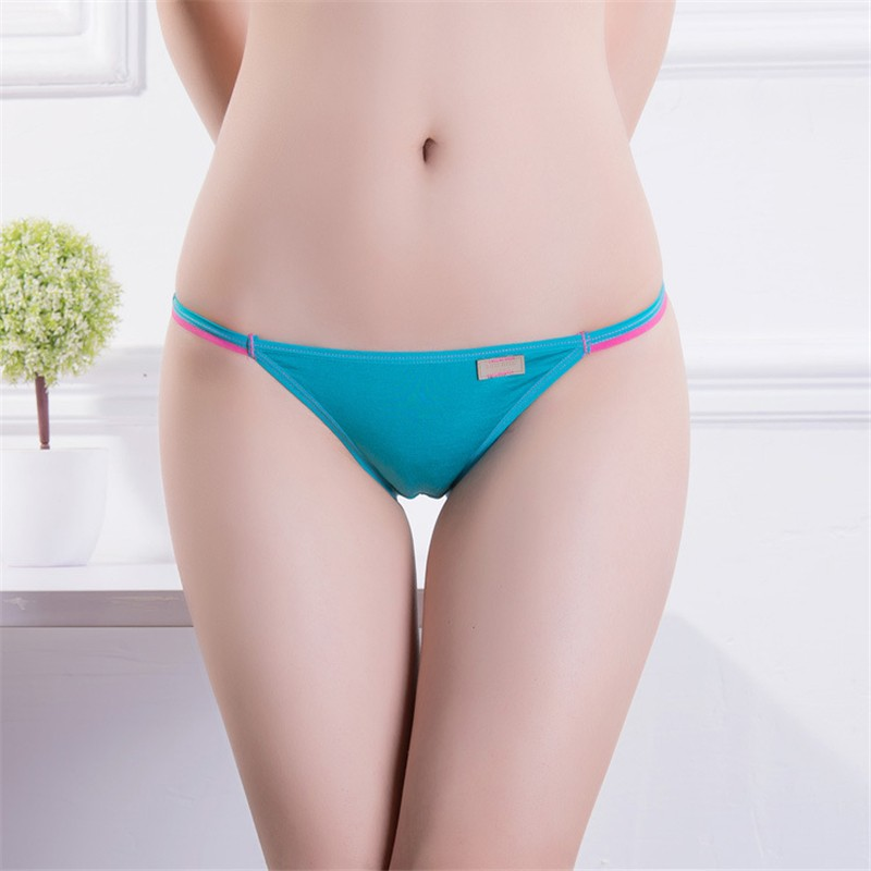 4 pcs/lot Women's Sexy Underwear String Panties Low Waist Women Briefs Thongs Sexy Lingerie 12 Color  Women Briefs Size M / L