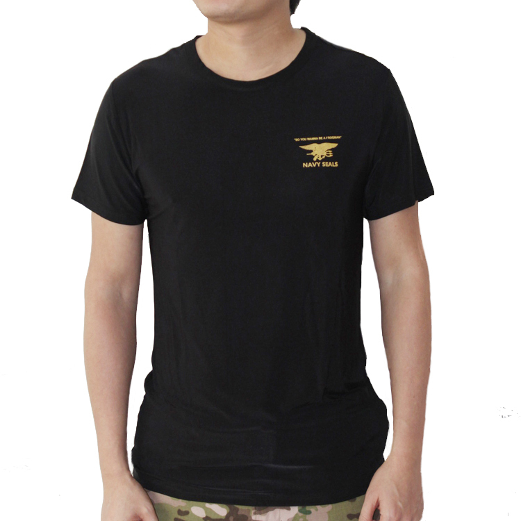 Men's Summer Quick-Dry Cool T-shirt Slim Tops Outdoor Sport Cycling Camping Military Navy Seal Tactical Style Tees  -  Miracle Outdoors store