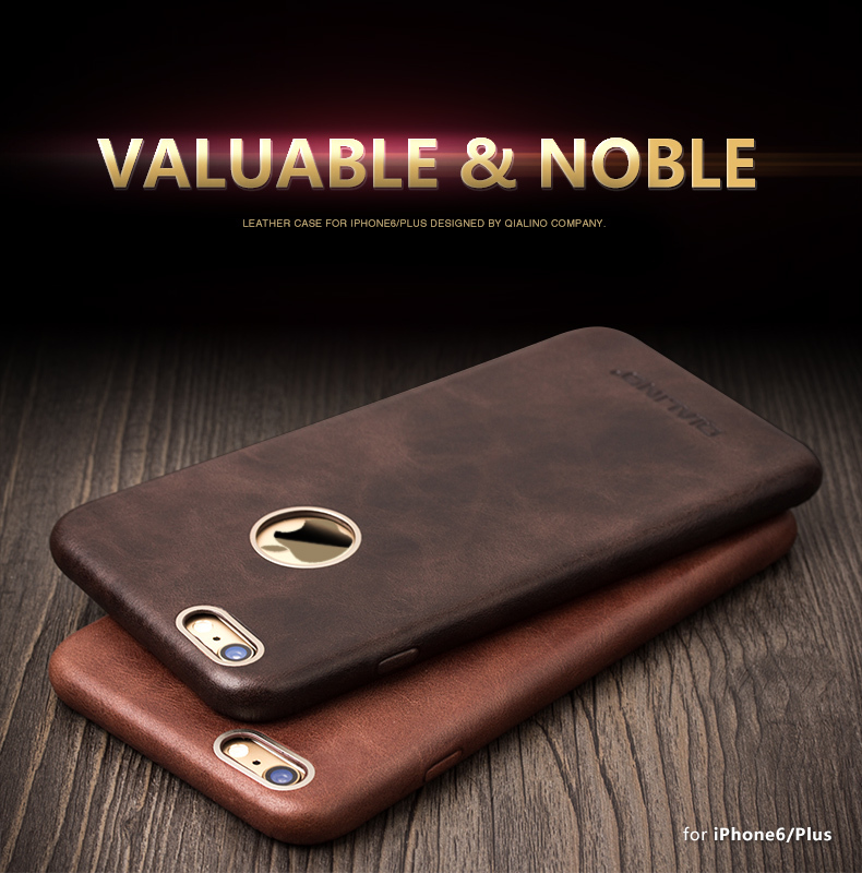 QIALINO for iphone 6 & 6s case Calf Skin Leather case for iphone 6 Unique Design with Golden Frame case for 4.7inch / 5.5inch(China (Mainland))