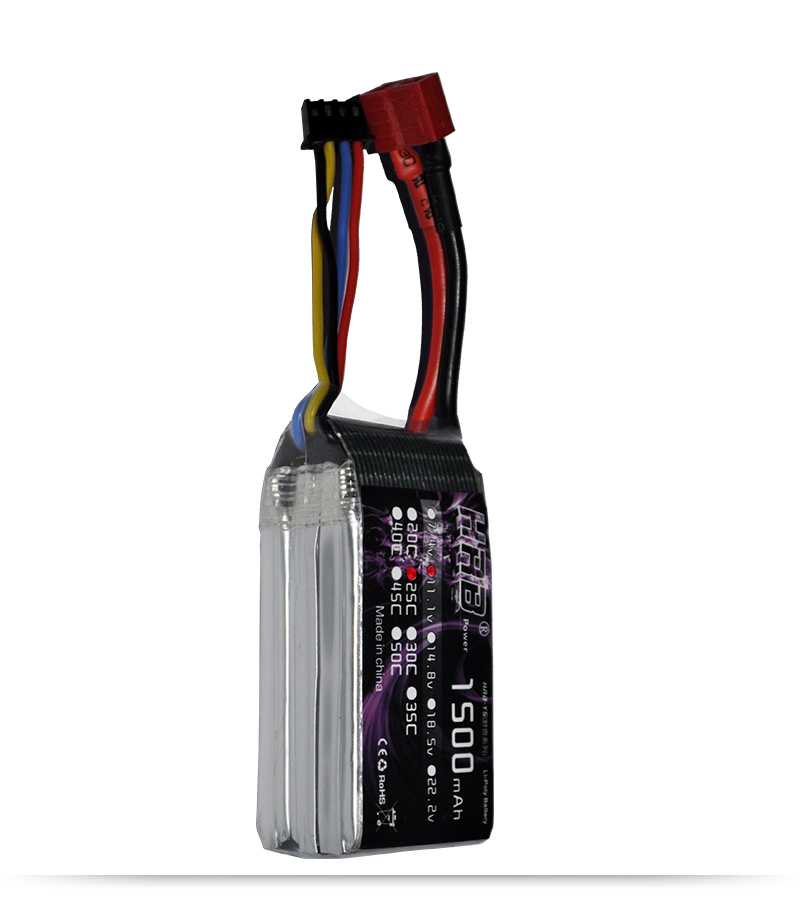 HRB RC Lipo Battery 3S 11.1V 1500mah 25C Helicopters Airplane FPV Drone KT Plate - POWER Official Store store