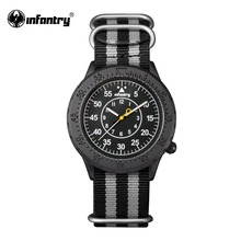 INFANTRY Mens Quartz Wristwatches Glow in Dark Hot Brand Military Army Nylon Watches Watch for Male Relogio Masculino