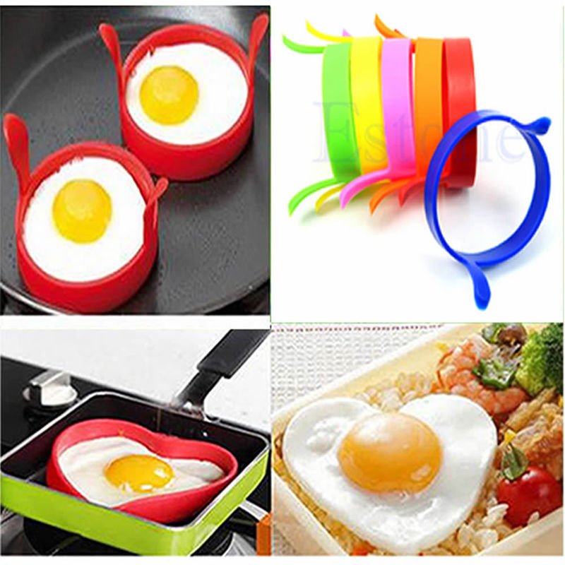 1 PCS Random Color !! House Cooking Silicone Fried Oven Poacher Pancake Egg Poach Ring Mould Mold(China (Mainland))