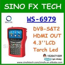 Satlink WS-6979 original DVB-S2&DVB-T2 MPEG4 HD COMBO Spectrum Satellite Meter Finder hd sat finder satlink ws6979(China (Mainland))