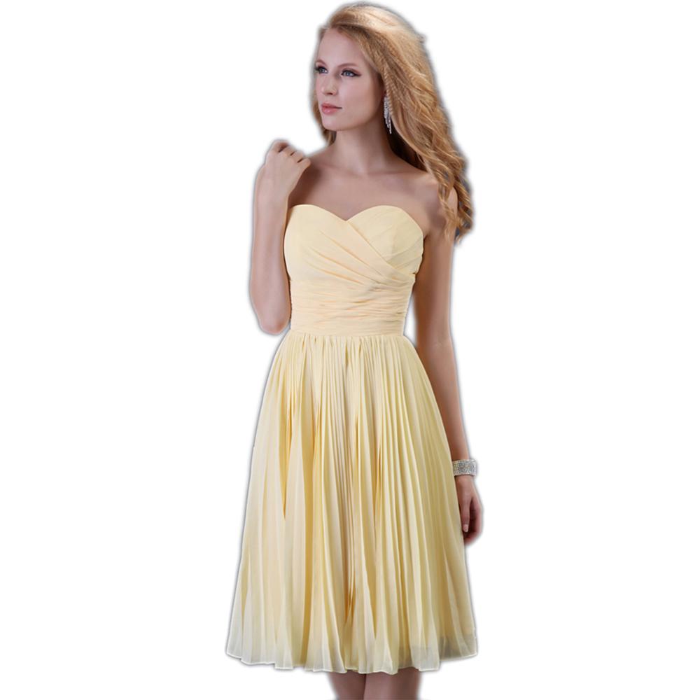 2015 New Vestido De Novia Largo Knee Length Wedding Guest