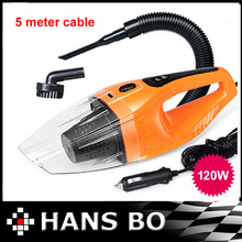 Free Shipping Car vacuum Cleaner of Portable Handheld Wet & Dry Dual-use Super Suction 5meters 12V, 120W CV 1130(China (Mainland))