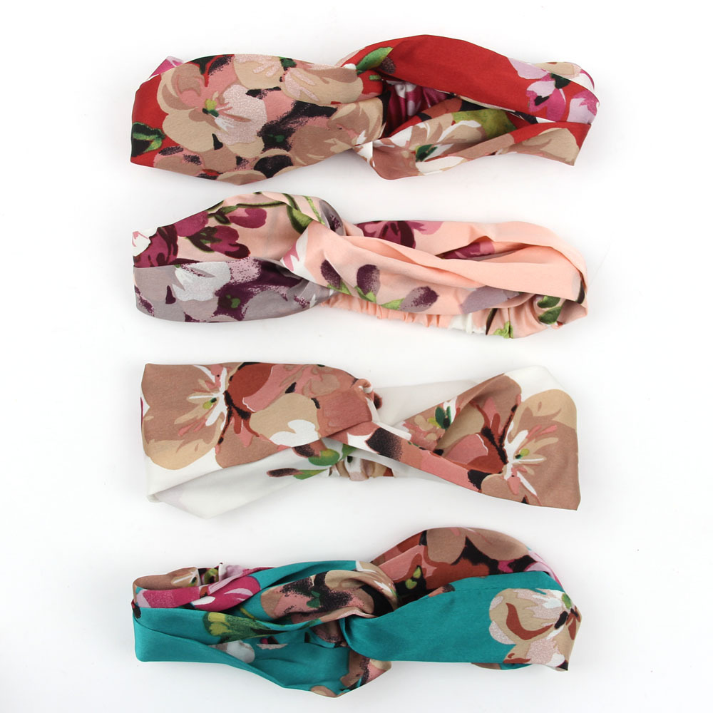 Bohemian Fashion Flower Headband Women Hair Accessories Hairband Summer Flower Hair Bands Elastic Head Bands(China (Mainland))