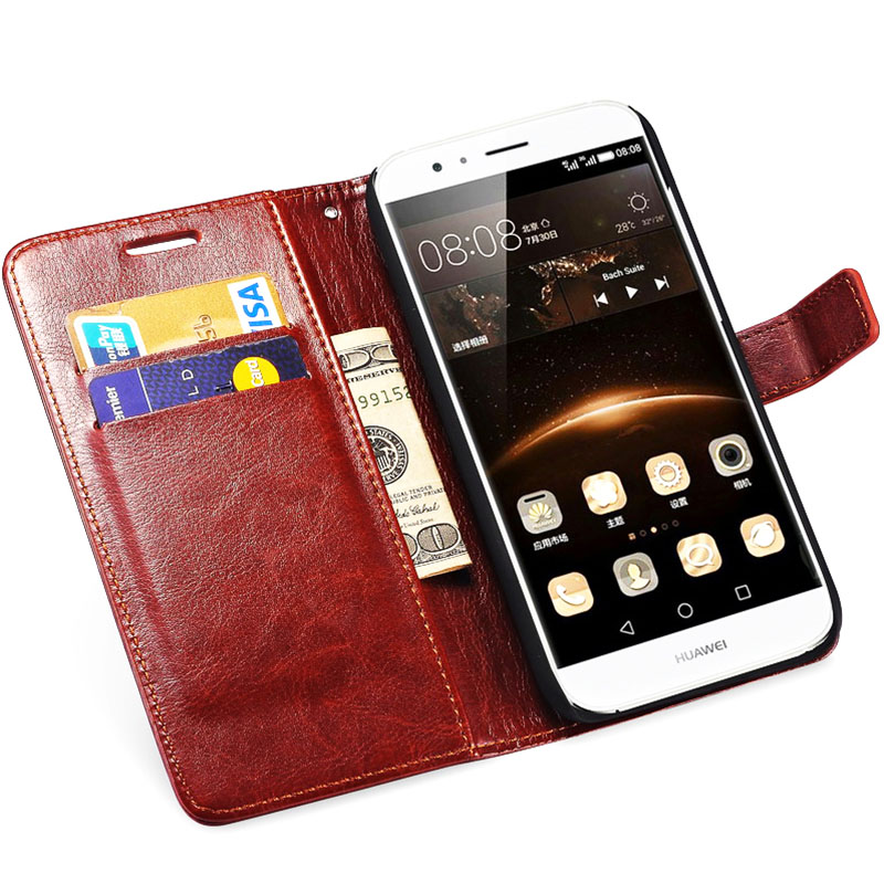 Flip Wallet PU Leather Case For Huawei G7 Business Style Stand Design Phone Bag Cover For Huawei G7 Cases Black Brown(China (Mainland))
