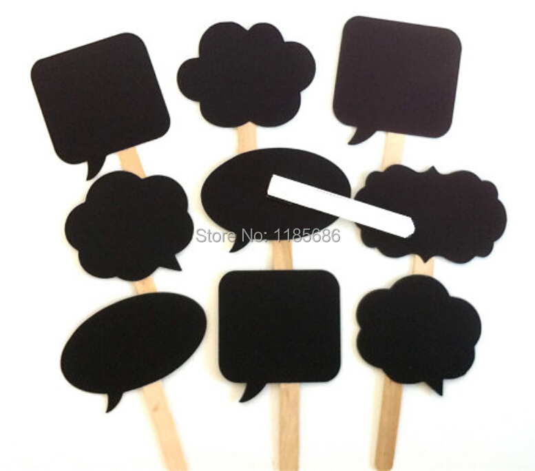 10Pcs/Set NEW Photo Booth Party ideas Mini Chalkboard Signs with Stick Wedding decoration Party Favor,Free Shipping Cheapest !!!(China (Mainland))
