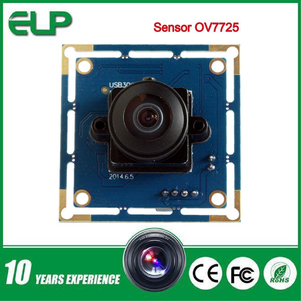 0.3mp  cmos OV7725  wide angle usb  camera  module with  170degree fisheye lens