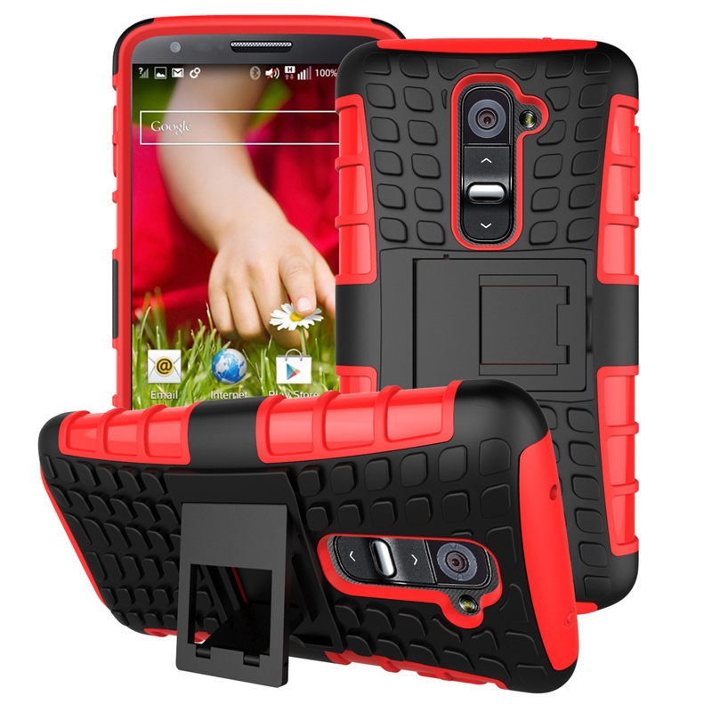 LG G2 / LGG2 / D802 D801 D805 optimus Case Heavy Duty Armor Shockproof Hard PC Plastic Soft TPU Silicone Stand back Cover