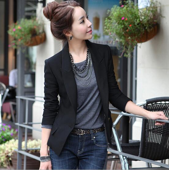 Suit Blazer feminino Ladies Basic Jackets women ladies suit blazers female blaser C01 - Flystar Fashion Clothing Mall store