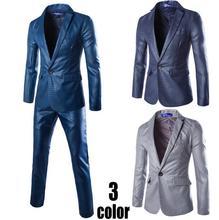 2016 new arrival spring winter Europe printing A buckle Suits set coat teens Slim suit dress men blazer designs jackets + pants