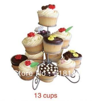 hot selling Party tree cup cake display decorated cupcake Stand Tree Holder cake stand for wedding party cakes 13 Cups 3 Tier