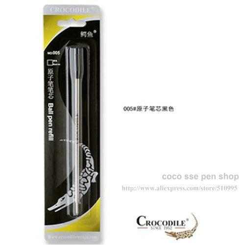 10 Pcs Crocodile International Standard  ballpoint  pen refills black refills  #005<br><br>Aliexpress