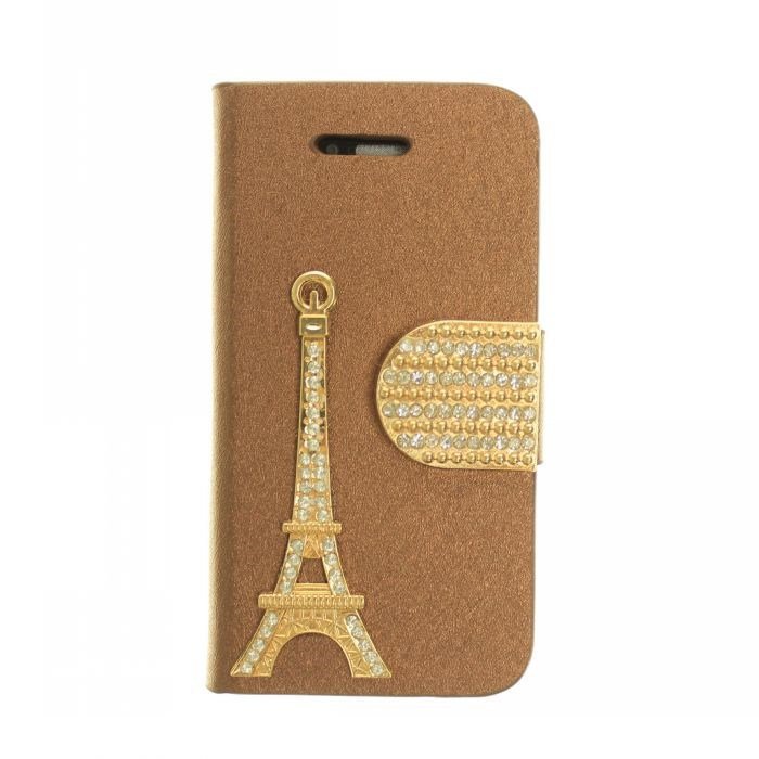 2015 New Arrival Phone Wallet Case Leather china Tower Case For iPhone 4 4S Leather Stand Holder Case Cover(China (Mainland))