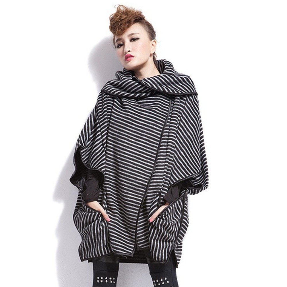 femme manteau poncho chaleureuse longue robe automne chauve souris manches femmes coton desigual. Black Bedroom Furniture Sets. Home Design Ideas