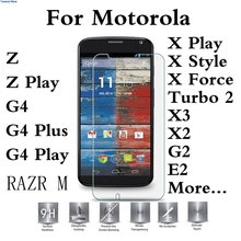 Buy Tempered Glass Case For Motorola Droid Turbo 2 E3 M Moto G4 G3 G2 Play Plus Z Force X Style Play E2 X3 X2 Protector 2.5D Pro 9H for $5.82 in AliExpress store