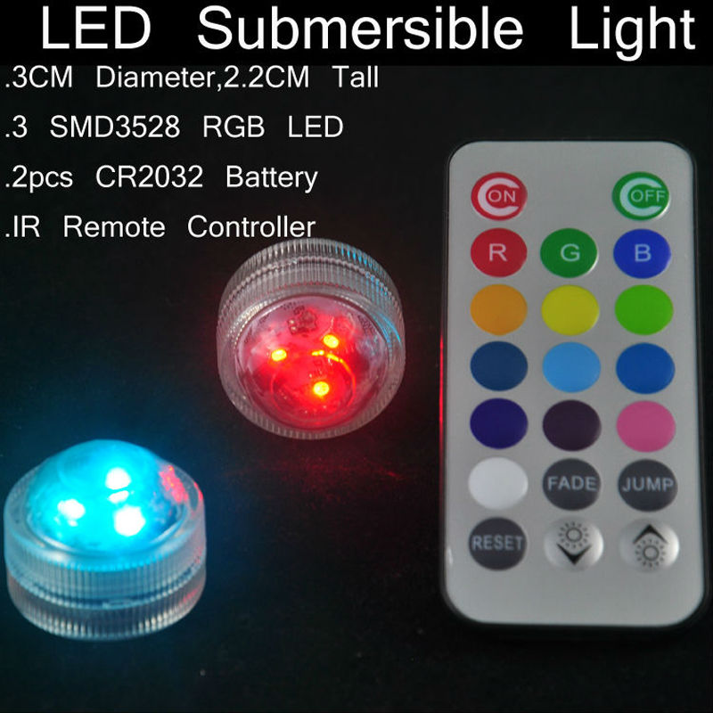 submersible led tea floralytes light with remote