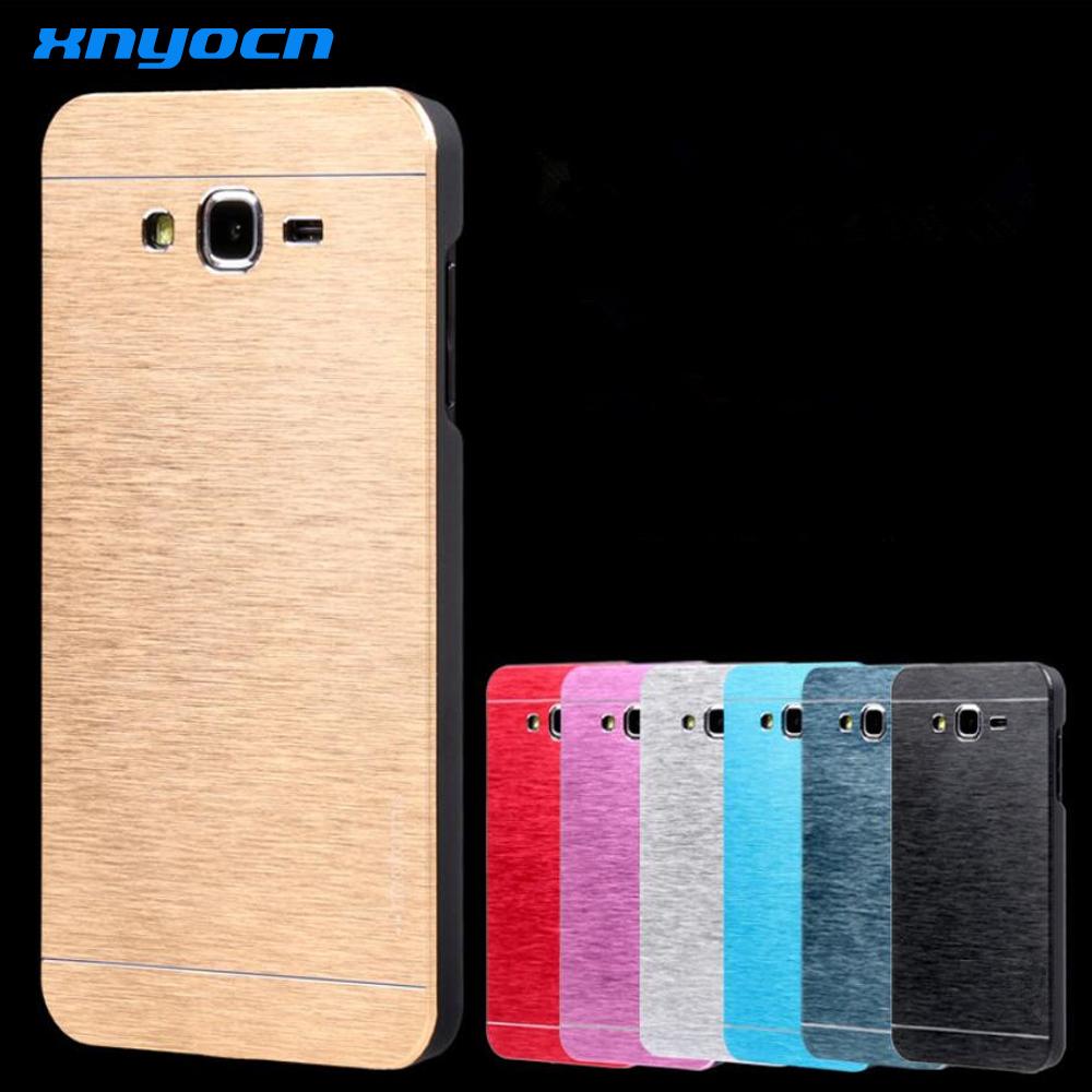 2017 New version Fashion Ultra Slim Aluminum Brushed Metal Hard Back Cover Case Samsung Galaxy J7 J5 J3  -  Xinyocn Digital Store store