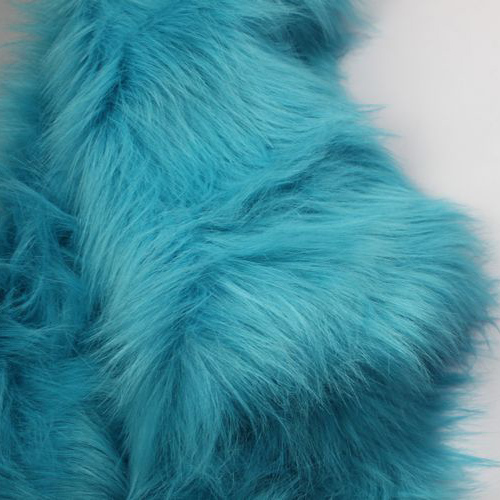 Meters 7cm turquoiseturquoise plush cosplay counter decoration background cloth accessories pad  BY THE YARD