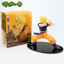 Free shipping Japanese anime Dragon Ball Z 1PCS 18cm/7 inch Super Saiyan Son Goku PVC action figure for kid toy Christmas gift