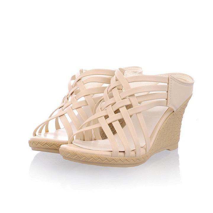 Size 34-40 new 2015 Rhinestone gladiator sandals women,platform high heel wedges women flip flops summer shoes woman - Forrest Wang's store