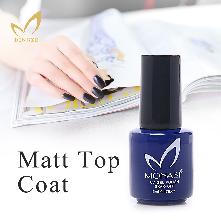 Matt No Wipe Top Gel UV Base Coat 1Pcs 5ML Nail Polish Matte Transparent Nails Art Gel Frosted Surface Gel Polish High Quality(China (Mainland))