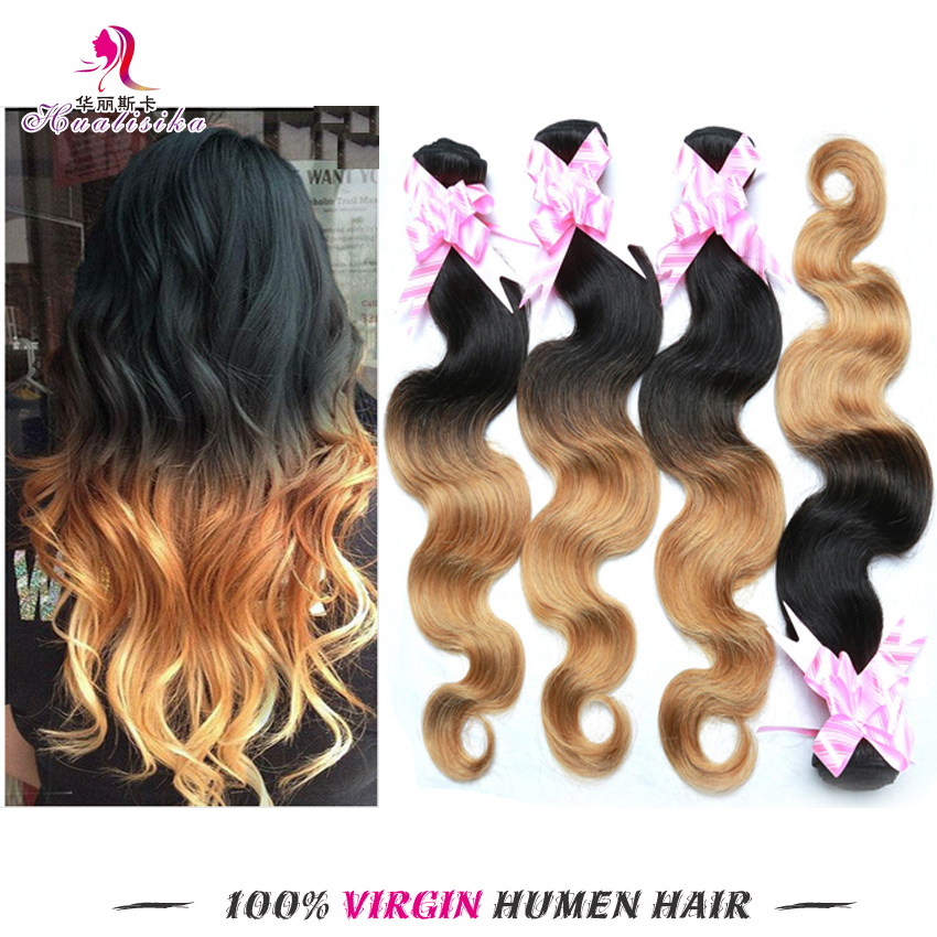 6A Cheap Brazilian Virgin Hair Body Wave Ombre Hair Extensions Ombre Brazilian Hair Weave Bundles 3pcs Human Hair Extensions
