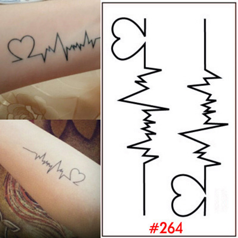 Heart Design Body Tattoo Stickers Womens Temporary Tattoos Fake Tattoo Sticker For Body Tatoo Sticker Waterproof Wrist WTA0264(China (Mainland))