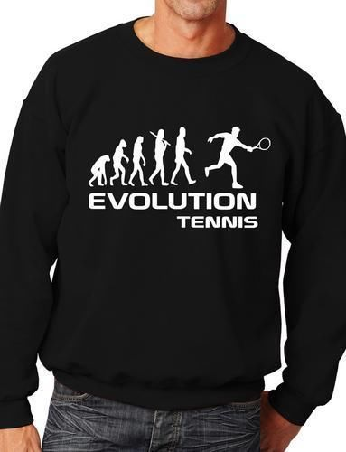 Evolution Of Tennis Funny Sweatshirt/Jumper Unisex Birthday Gift More Size and Color-E213(China (Mainland))