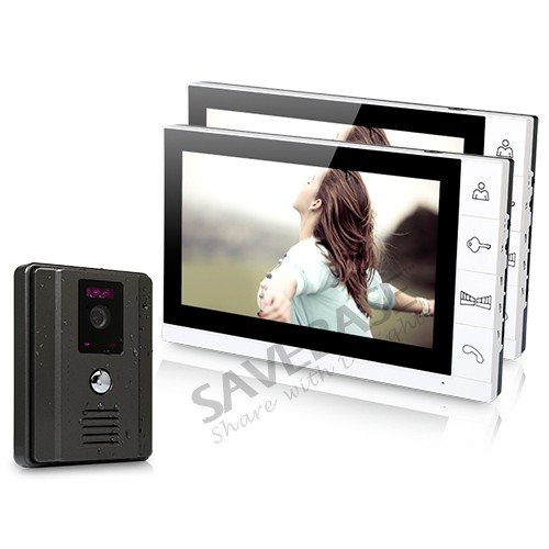 """New 9"""" Wired Video Door Phone Doorbell Home Security Intercom System 1-Out 2-In(China (Mainland))"""