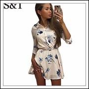 2015-Womens-Mini-Dress-Casual-Floral-summer-style-vestidos-women-Vintage-Party- -Club-Chiffon-Dresses