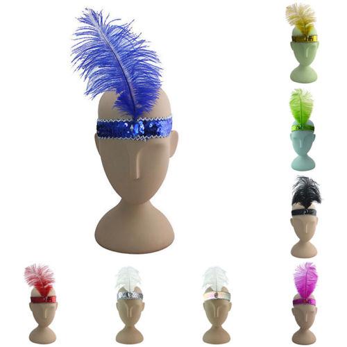 Stylish Feather Headband Flapper Charleston Dress Costume Headdress Headpiece(China (Mainland))