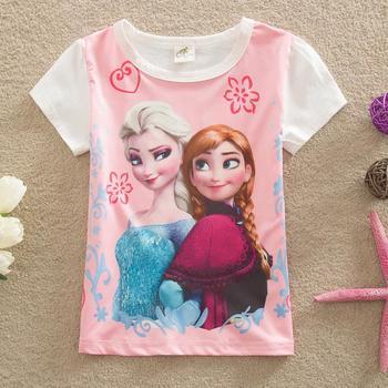 Один пк! Малышей детей мальчиков девочки майка летняя ребенок ребенок дети девочки футболки для мальчиков девочек топы тис эльза анна футболки