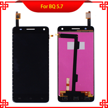 Mobile Phone LCDs For BQ Aquaris 5.7 LCD Display with Touch Screen Digitizer Assembly 100% Guarantee