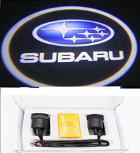 Hot  Car Door Lights For Subaru Logo led Ghost Shadow Welcome Light Auto LOGO Laser Projector Lights LED 12V  Free Shipping(China (Mainland))