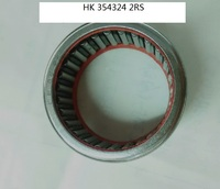 HK354324 2RS  Drawn cup Needle roller bearings open end with seal the size of 35*43*24mm
